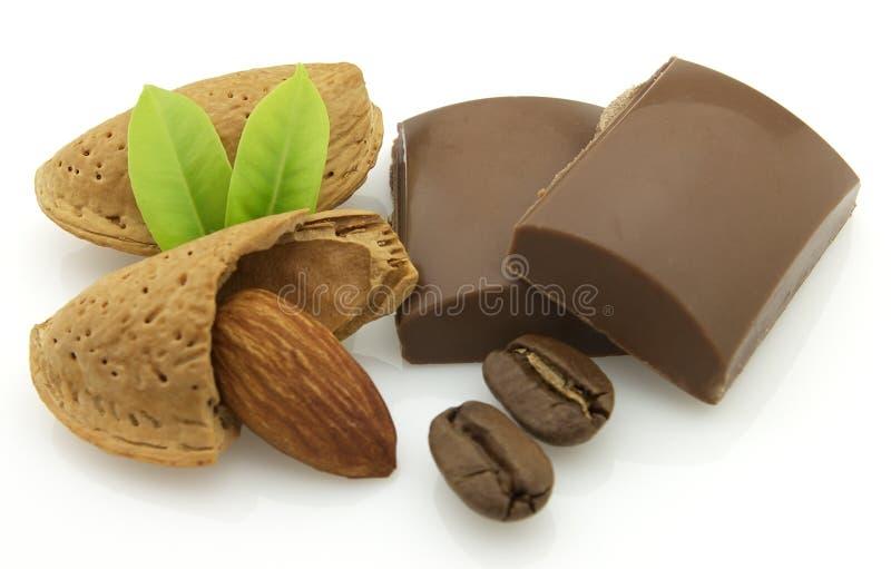 mandelchoklad royaltyfri bild