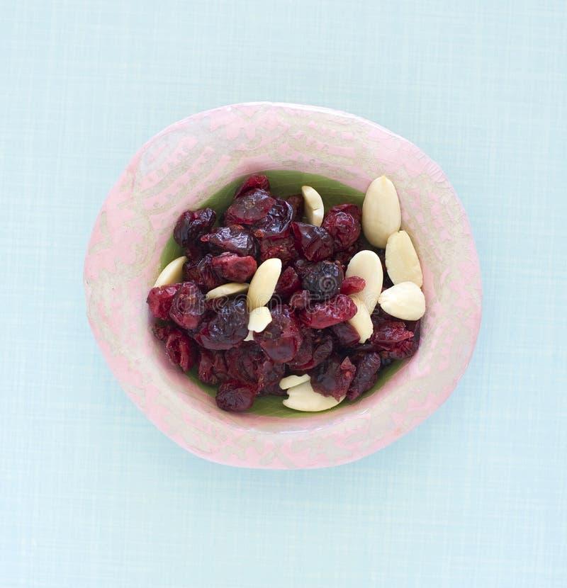 mandelcranberries torkar royaltyfria foton