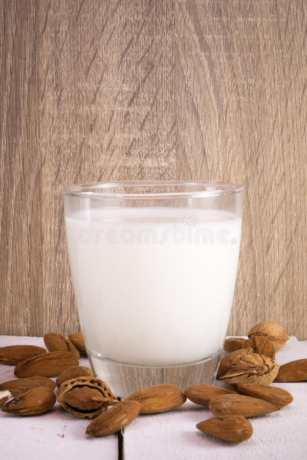 Mandelmilch stockfoto