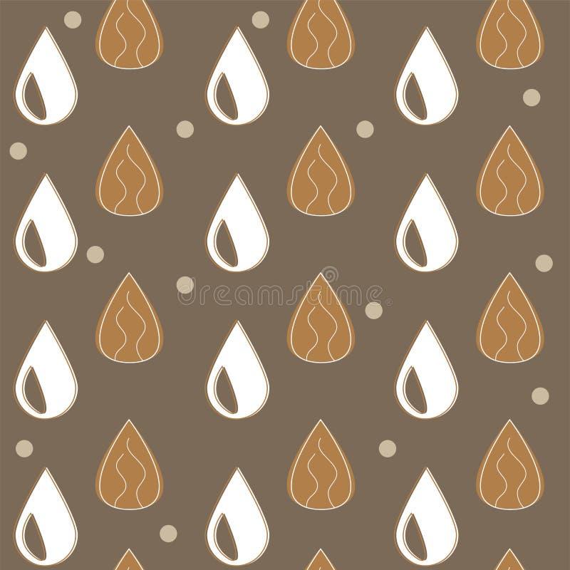 Mandelmilch - Vektorsatz von Gestaltungselementen und Muster für Verpackenhintergrund vektor abbildung