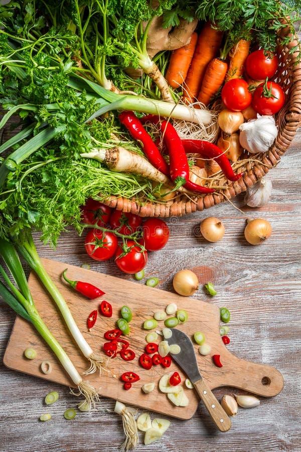 Mandhoogtepunt van verse groenten royalty-vrije stock foto's