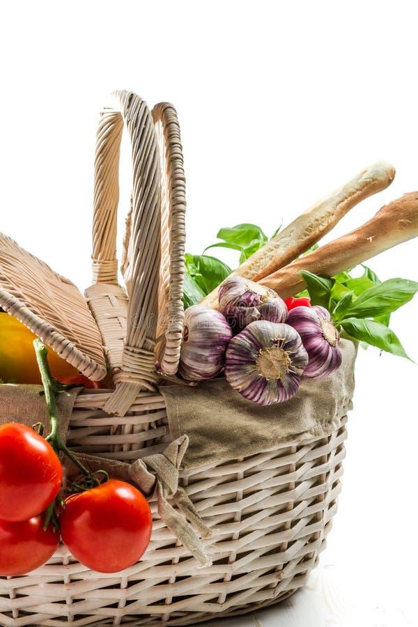 Mandhoogtepunt van verse groenten royalty-vrije stock afbeeldingen