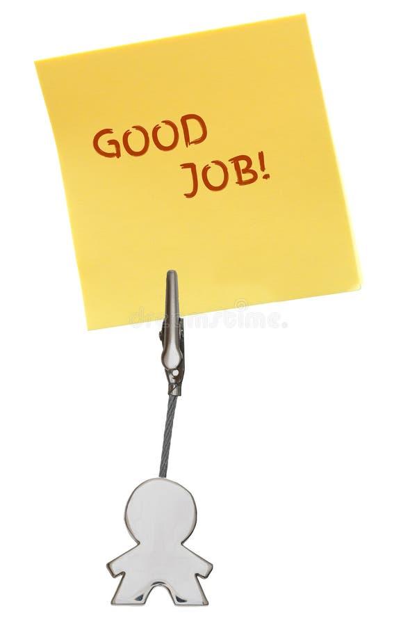 Mandiagram affärskorthållare med JOBB för GODA för gulingpappersanmärkning arkivfoton