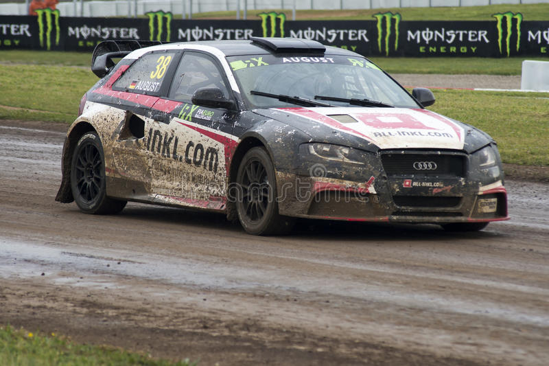 Mandie August. Barcelona FIA World Rallycross royalty free stock photos