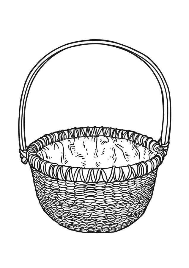 Mandillustratie, tekening, gravure vector illustratie