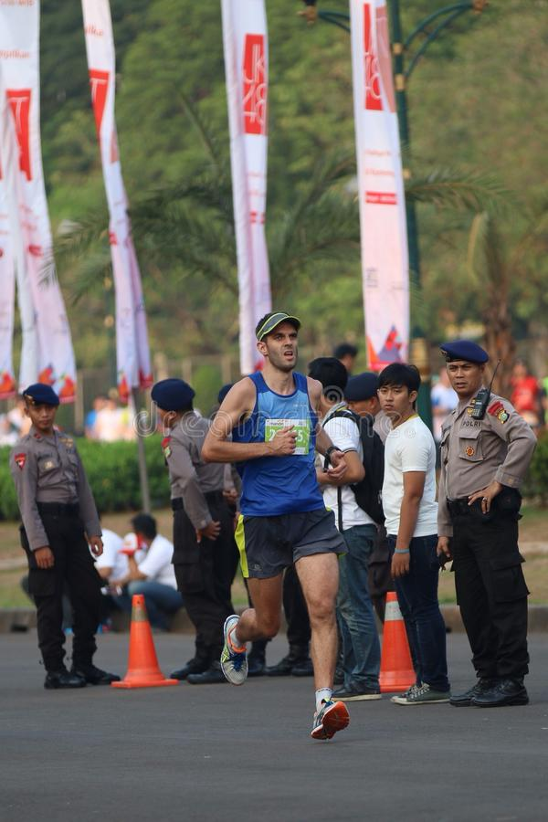 Mandiri Jakarta Marathon 2014. Marathon event at Monas royalty free stock photo