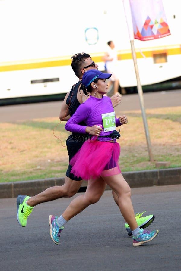 Mandiri Jakarta Marathon 2014. Jakarta Marathon at Monas royalty free stock photos