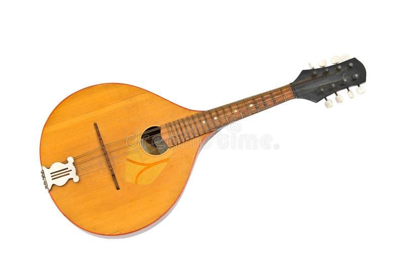 Mandolin. Acoustic mandolin on white background stock photo