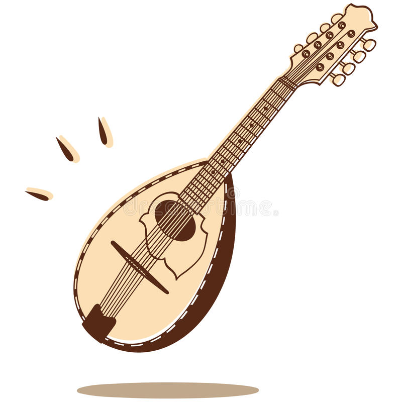 Mandolin Vector Royalty Free Stock Images