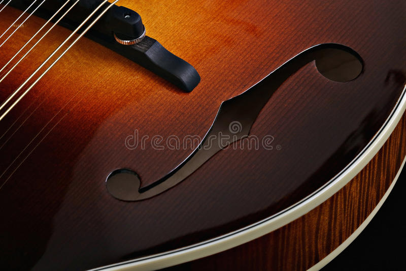 Mandolin on black background. Mandolin isolated on black background stock photo