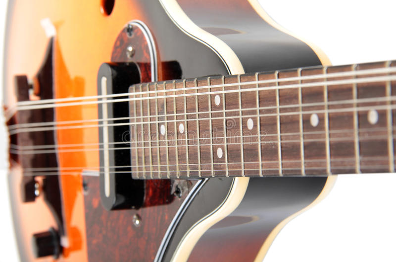 Mandolin bluegrass. Color photo of a mandolin in country style royalty free stock images