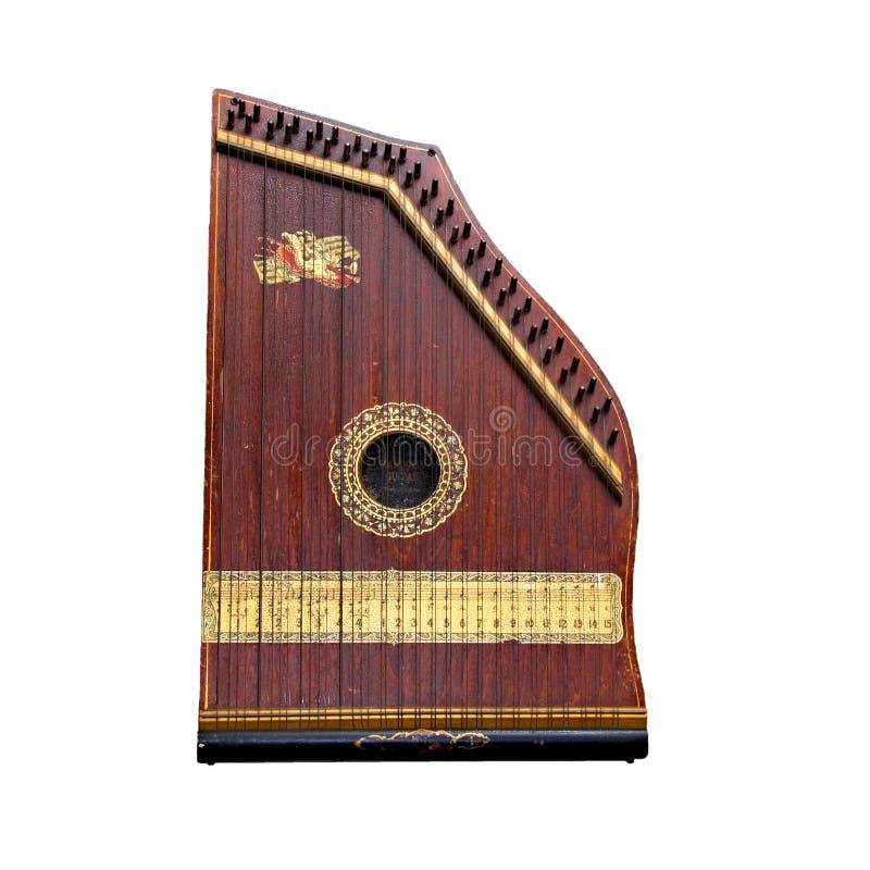 Mandolin Guitar. (fretless) isolated on white background royalty free stock images