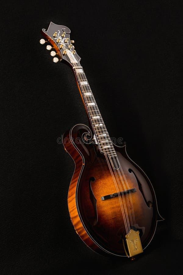 Mandolin isolated on black. Background stock image