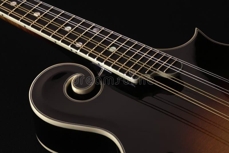 Mandolin isolated on black. Background royalty free stock photo