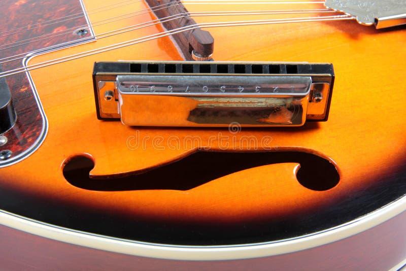 Mandolin och harpa royaltyfri foto