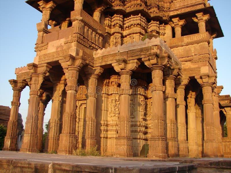 Mandore trädgårdar, Jodhpur, Rajasthan, Indien arkivfoton