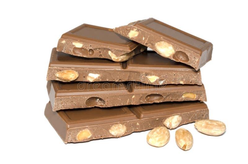 Mandorla del cioccolato fotografia stock libera da diritti