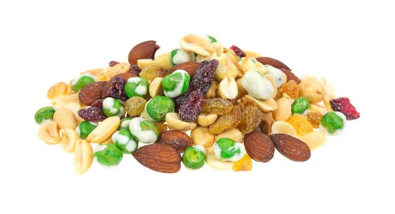 Mandorle e frutta secca dei piselli di Wasabi immagine stock