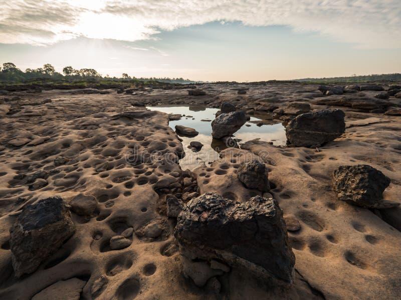 Mandou o hin ver em Ubonratchathani, Tailândia Grand Canyon fotografia de stock royalty free