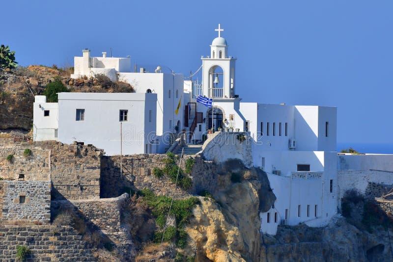 Mandraki, isla Nisyros, Grecia imagen de archivo libre de regalías