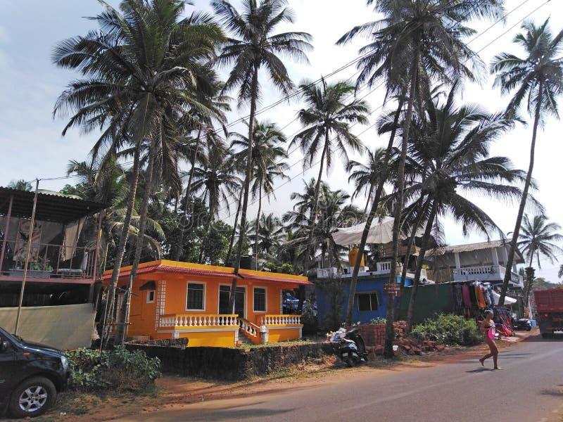 Mandrem-Ashvem, Goa, Indien lizenzfreie stockfotografie