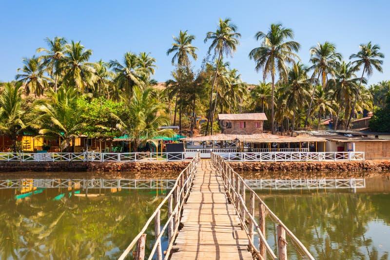 Mandrem plaża Goa India zdjęcie stock