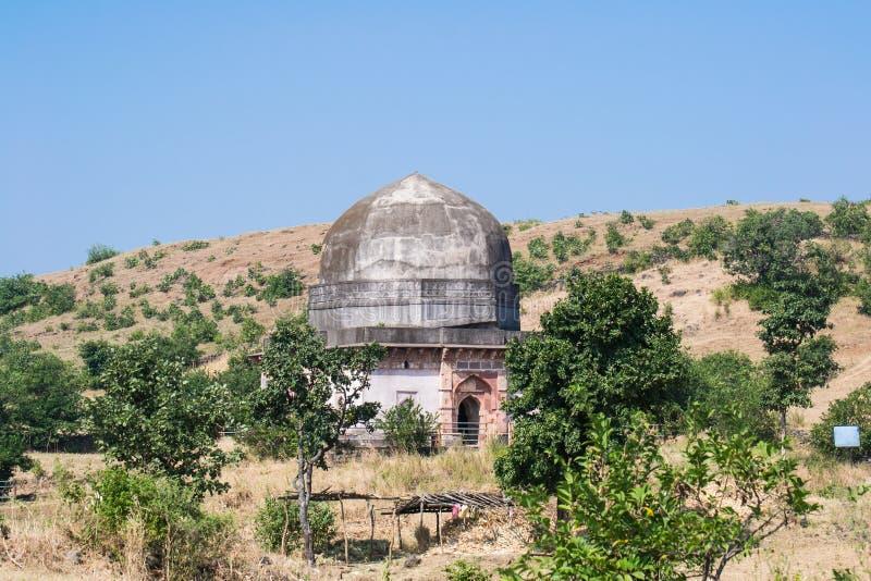 Mandu eller Mandav historisk slott arkivfoton