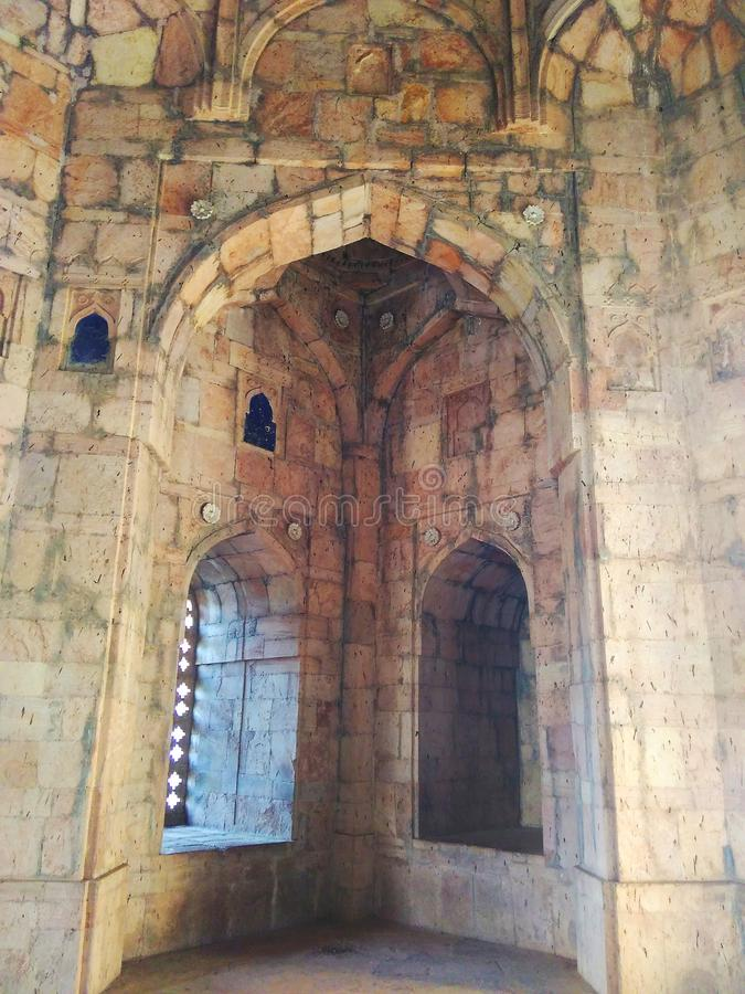 Mandu Jami Mosque Main Dome Interior royalty free stock images