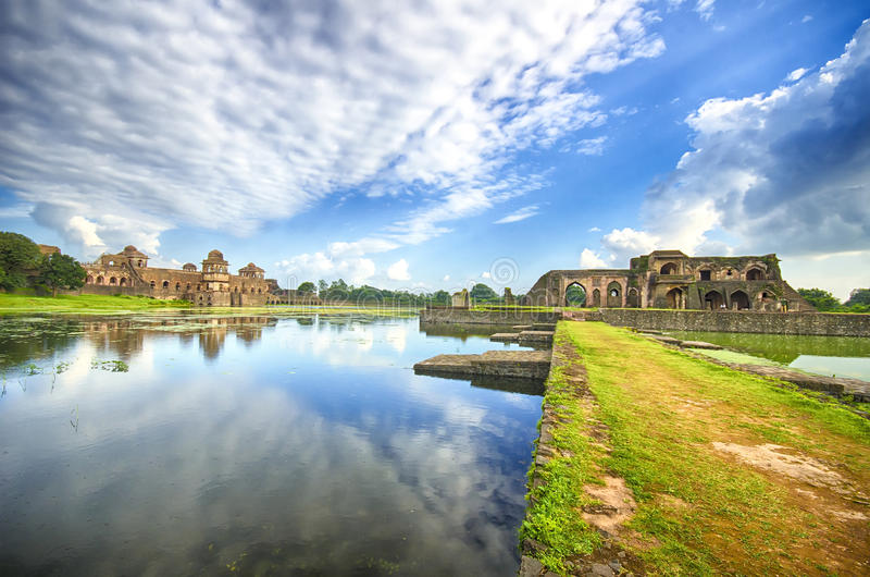 Mandu, Madhya Pradesh. Mandu or Mandavgad is a ruined city in the present-day Mandav area of the Dhar district. It is located in the Malwa region of western stock photo