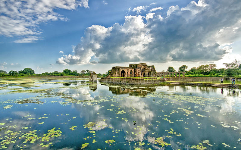 Mandu, Madhya Pradesh. Mandu or Mandavgad is a ruined city in the present-day Mandav area of the Dhar district. It is located in the Malwa region of western royalty free stock images