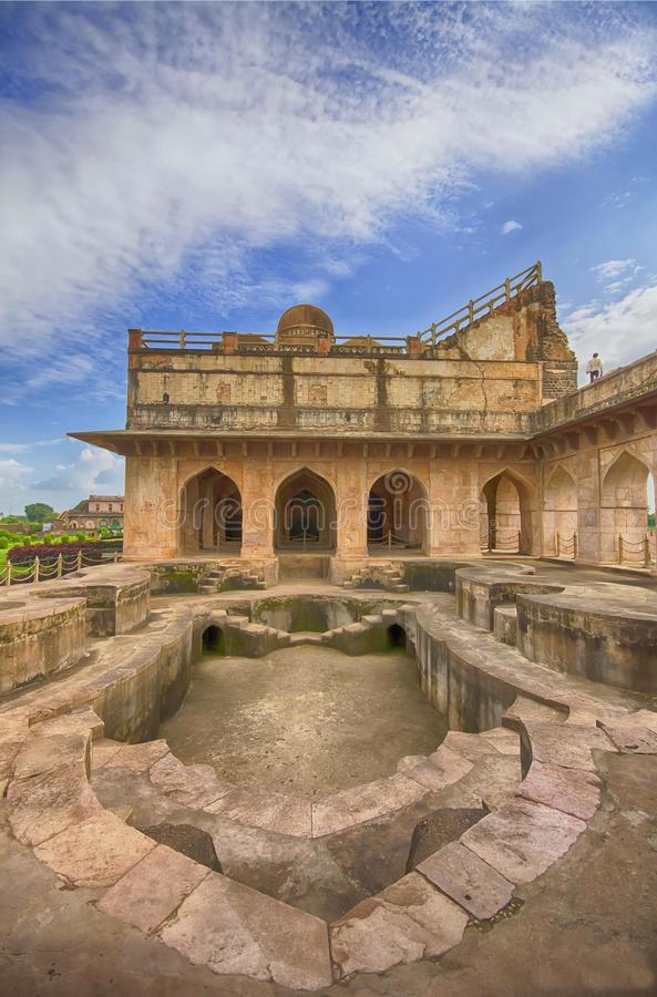 Mandu, Madhya Pradesh. Mandu or Mandavgad is a ruined city in the present-day Mandav area of the Dhar district. It is located in the Malwa region of western stock photography