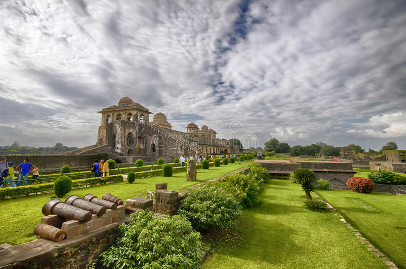 Mandu, Madhya Pradesh. Mandu or Mandavgad is a ruined city in the present-day Mandav area of the Dhar district. It is located in the Malwa region of western royalty free stock image