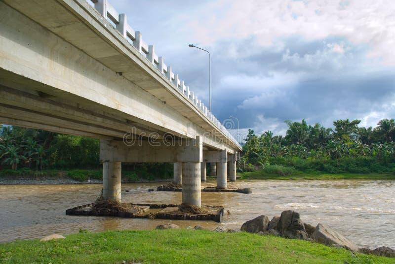 Mandulog Bridge Iligan. The new (2007) bridge on the Mandulog River near the sea in barangay San Roque, Iligan City, Mindanao Philippines, one of the 7 landmark stock photo