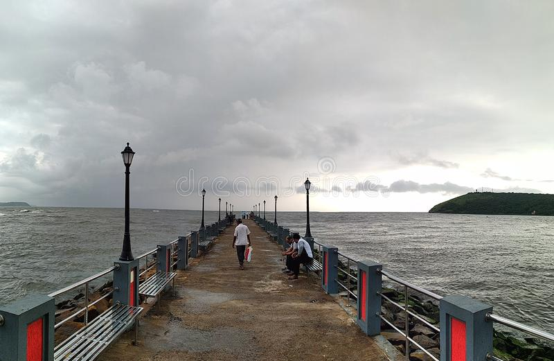 Mandvi jetty Ratnagiri Maharashtra india. Gate way of Ratnagiri, Mandavi jetty Ratnagiri Maharashtra India.its beautiful place stock images