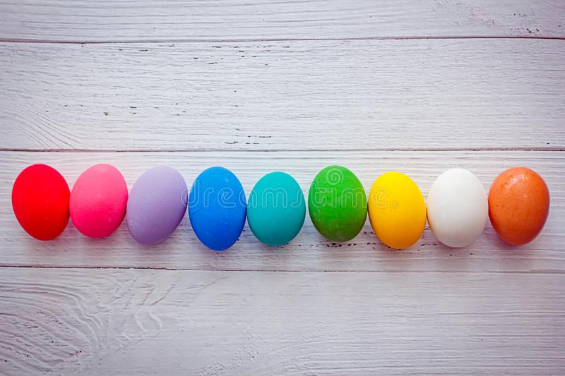 Colorful easter eggs, background. Mandy bright and colorful easter eggs, background stock image