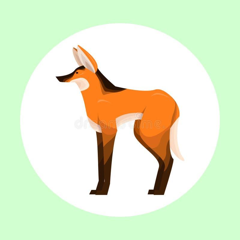 Maned wolfsembleem stock afbeelding