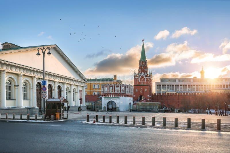 Manege perto do Kremlin imagens de stock royalty free