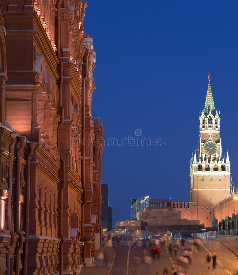 Manege Square At Night, Moscow, Russia Royalty Free Stock Photo