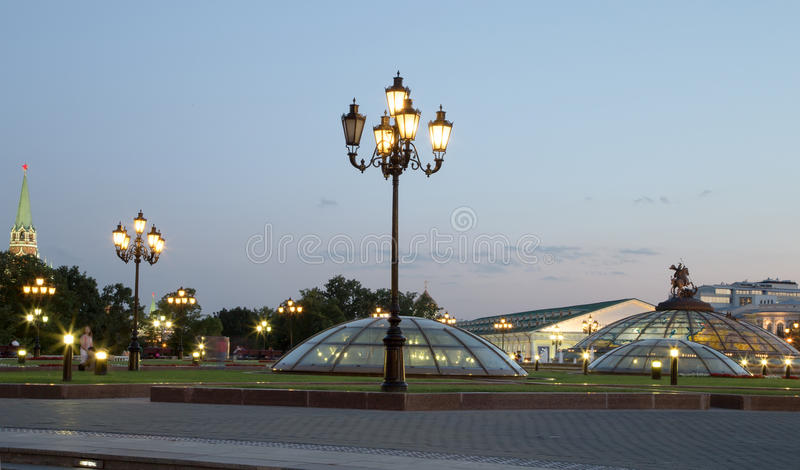 Download Manege Square At Night, Moscow, Russia Stock Image - Image: 39374239