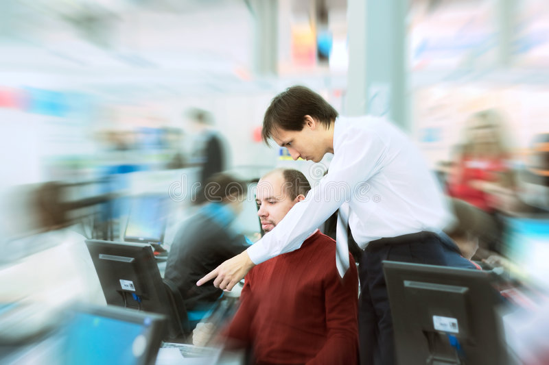 Maneger and assistant stock image