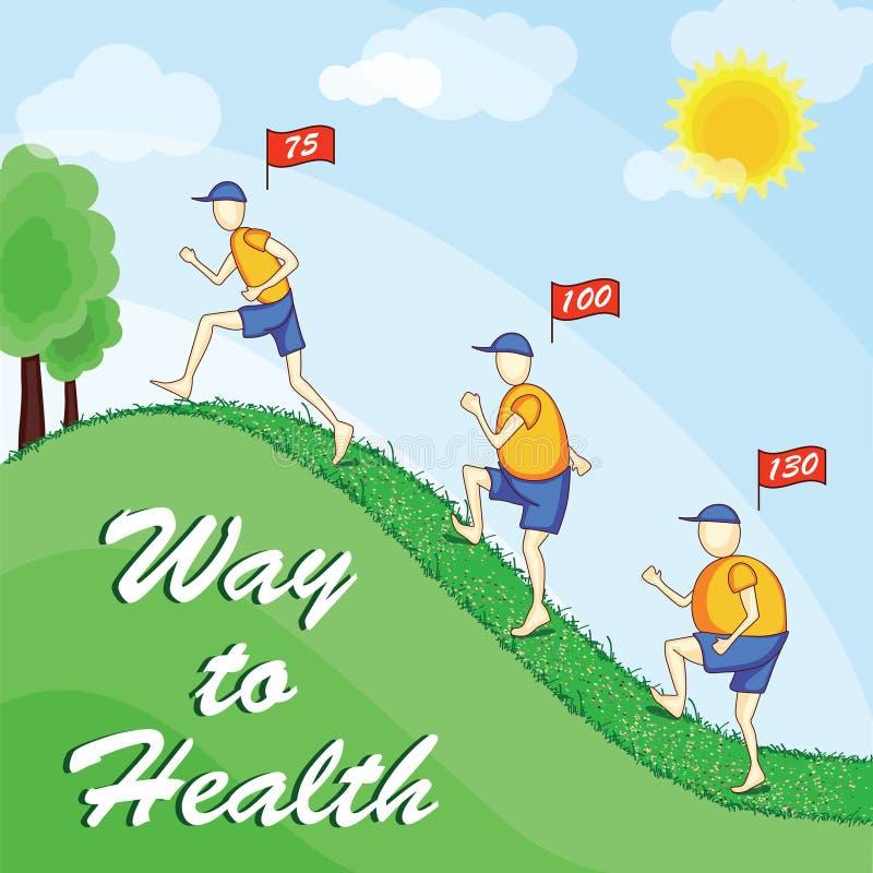 Maneira à saúde ilustração royalty free