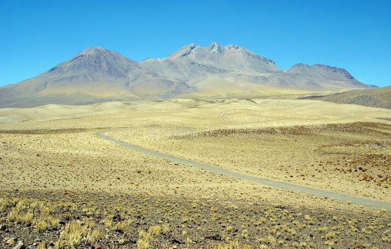 Maneira a Andes - Ámérica do Sul fotografia de stock royalty free