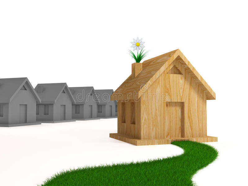 A maneira ao conceito natural e saudável da vida. ilustração stock