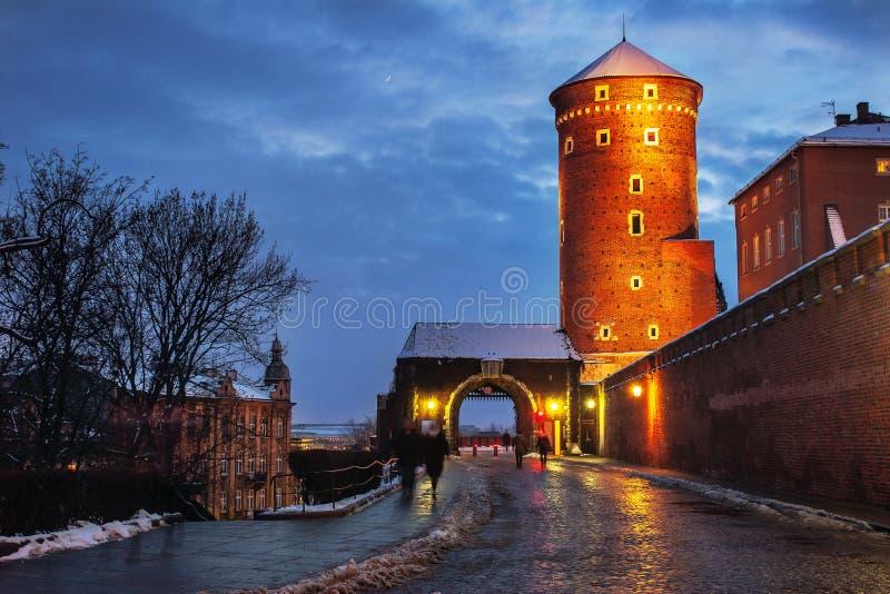 Maneira ao monte de Wawel fotografia de stock