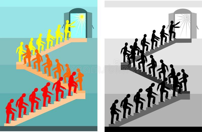 Maneira ao sucesso ilustração stock