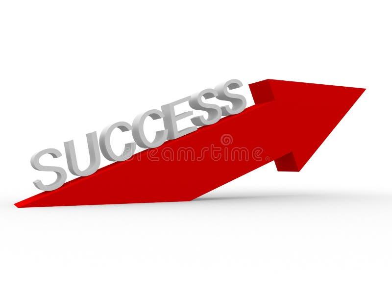 Maneira ao sucesso ilustração do vetor
