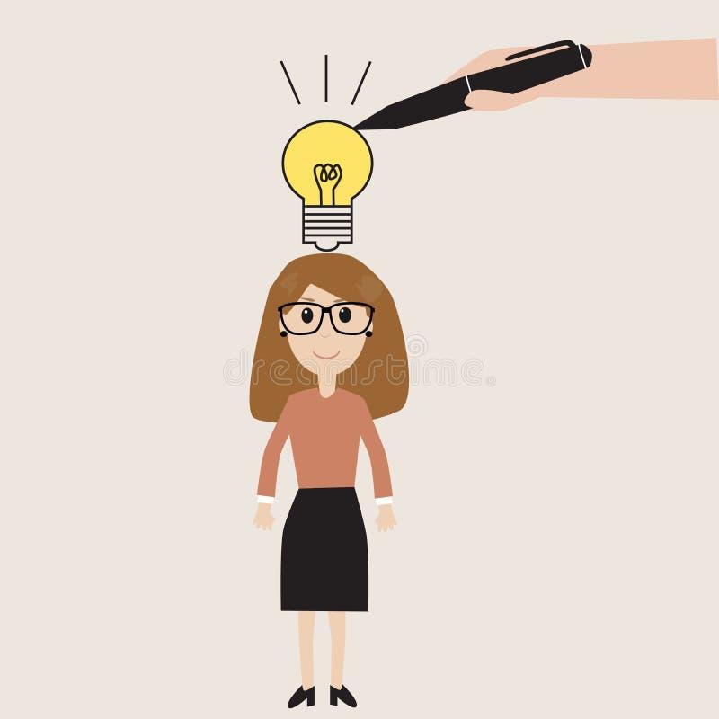 A maneira ao sucesso ilustração royalty free