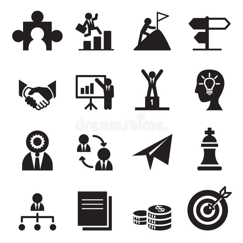 A maneira aos ícones do sucesso ajustados ilustração royalty free