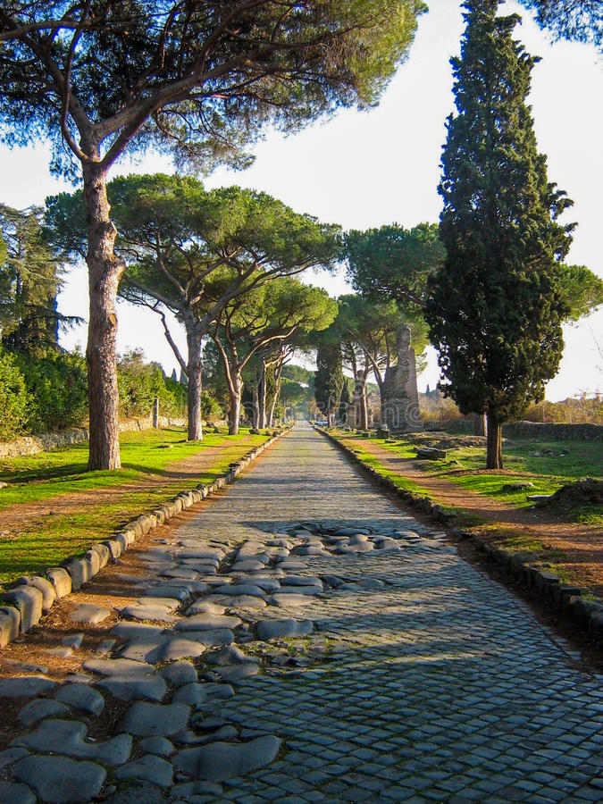 Maneira de Appian, Roma foto de stock royalty free