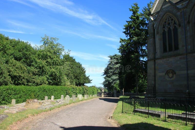 Maneira de Parth à igreja fotografia de stock royalty free